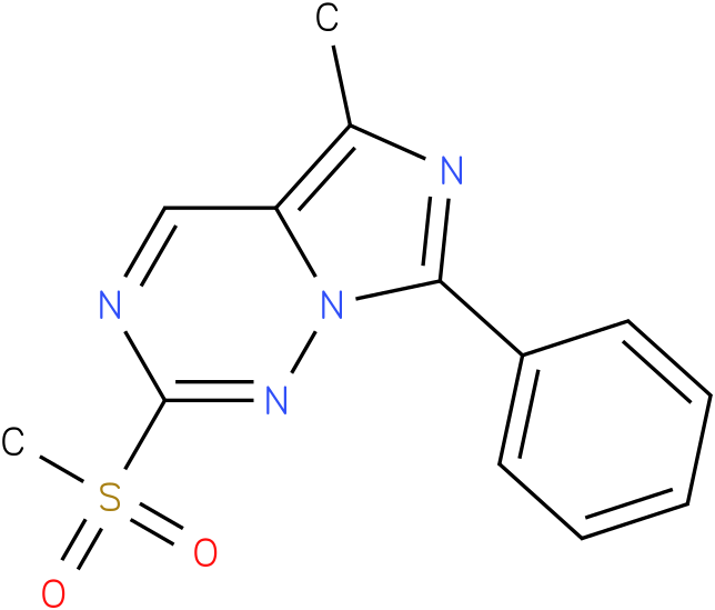5-Methyl-2-(methylsulfonyl)-7-phenylimidazo[5,1-f][1,2,4]triazine