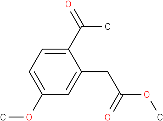 methyl 2-(2-acetyl-5-methoxyphenyl)acetate