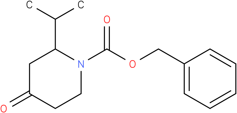 N-1-Cbz-2-iso-propyl piperidin-4-one