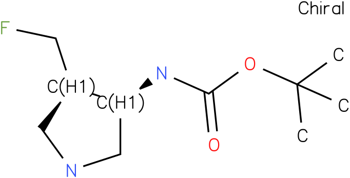 cis-(4-Fluoromethyl-pyrrolidin-3-yl)-carbamic acid tert-butyl ester