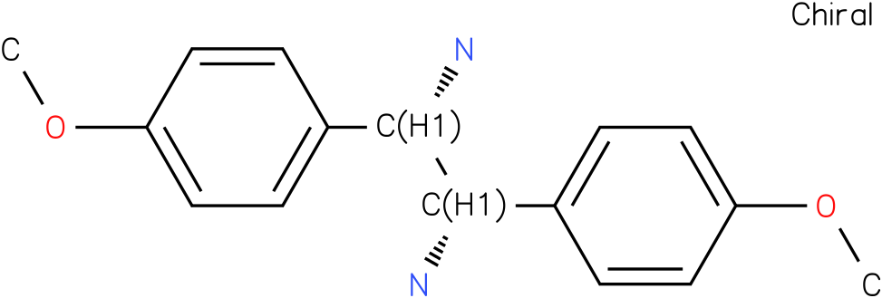 (1S,2S)-1,2-di(4'-methoxy phenyl)-1,2-diaminoethane