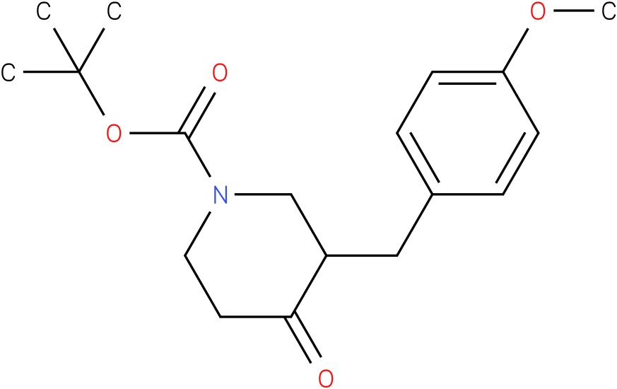 tert-butyl 3-(4-methoxybenzyl)-4-oxopiperidine-1-carboxylate