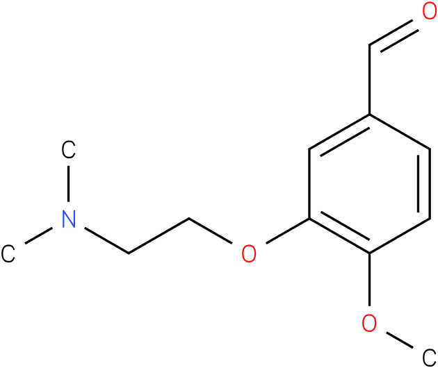 3-(2-(dimethylamino) ethoxy)-4- methoxybenzaldehyde