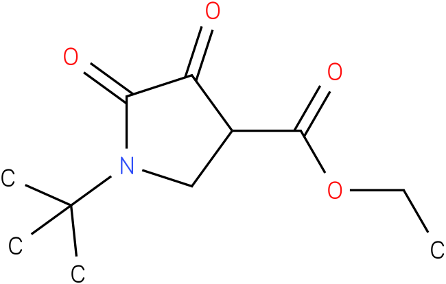 Ethyl 1-t-butylpyrrolidin-2,3-dione-4-carboxylate