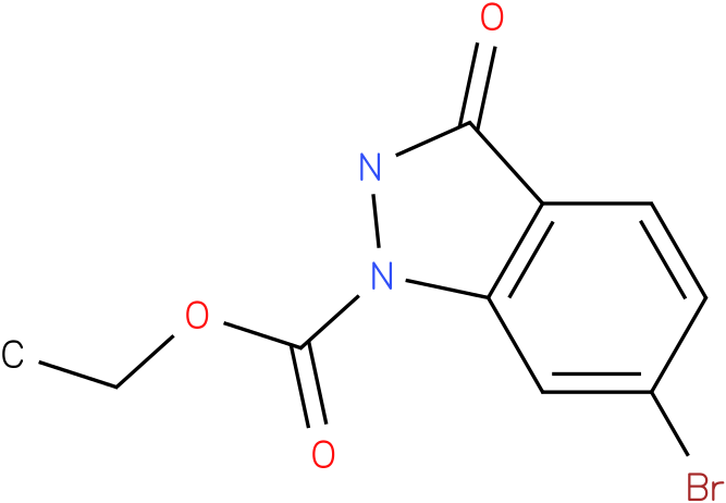 1H-INDAZOLE-1-CARBOXYLIC ACID,6-BROMO-2,3-DIHYDRO-3-OXO-,ETHYL ESTER