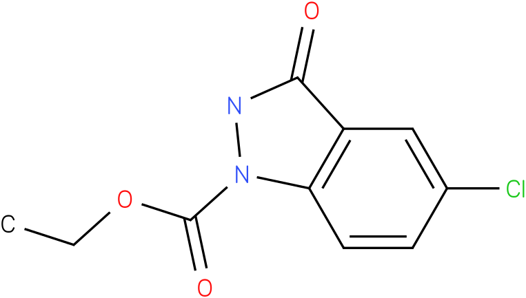 1H-INDAZOLE-1-CARBOXYLIC ACID,5-CHLORO-2,3-DIHYDRO-3-OXO-,ETHYL ESTER