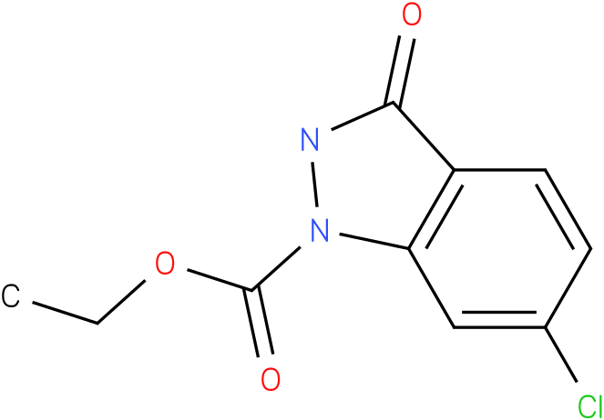 1H-INDAZOLE-1-CARBOXYLIC ACID,6-CHLORO-2,3-DIHYDRO-3-OXO-,ETHYL ESTER