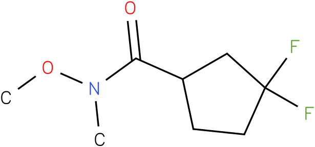 3,3-difluoro-N-methoxy-N-methylcyclopentanecarboxamide
