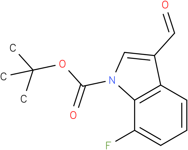 TERT-BUTYL 7-FLUORO-3-FORMYL-1H-INDOLE-1-CARBOXYLATE
