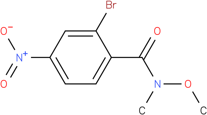 2-bromo-N-methoxy-N-methyl-4-nitrobenzamide