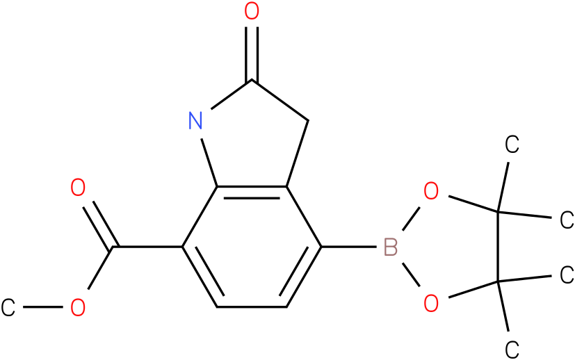 methyl 2-oxo-4-(4,4,5,5-tetramethyl-1,3,2-dioxaborolan-2-yl)indoline-7-carboxylate