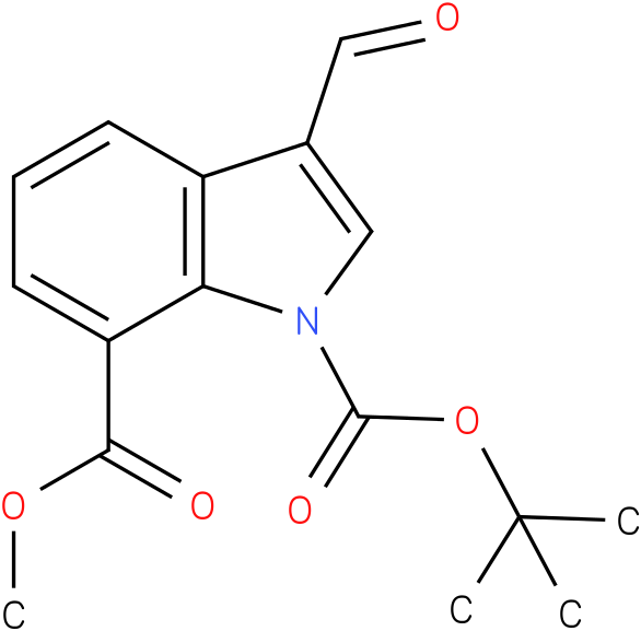 1-TERT-BUTYL 7-METHYL 3-FORMYL-1H-INDOLE-1,7-DICARBOXYLATE