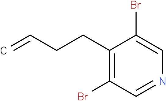 3,5-dibromo-4-(but-3-enyl)pyridine