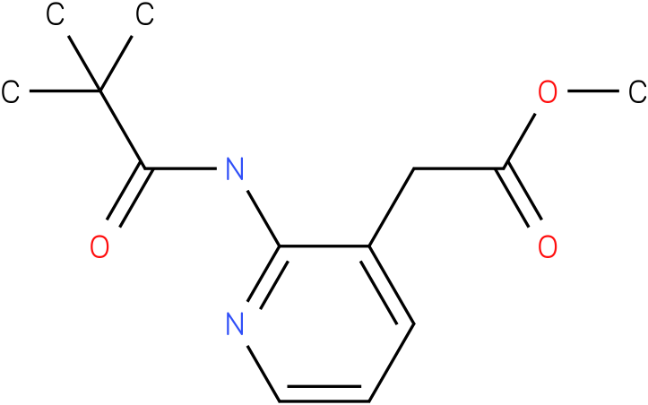 methyl 2-(2-pivalamidopyridin-3-yl)acetate