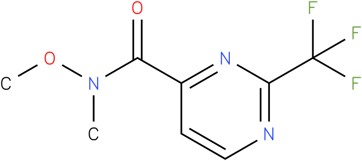 N-methoxy-N-methyl-2-(trifluoromethyl)pyrimidine-4-carboxamide