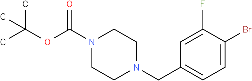 tert-butyl 4-(4-bromo-3-fluorobenzyl)piperazine-1-carboxylate