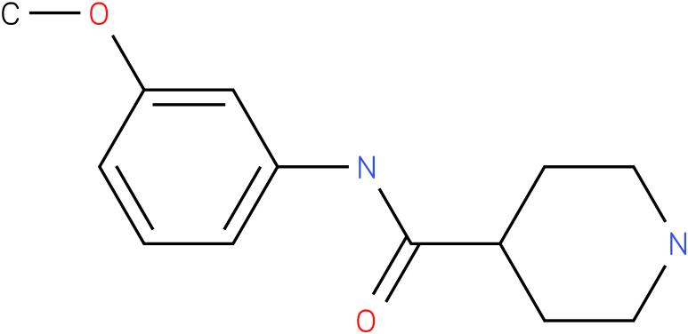 Piperidine-4-carboxylic acid (3-methoxy-phenyl)-amide