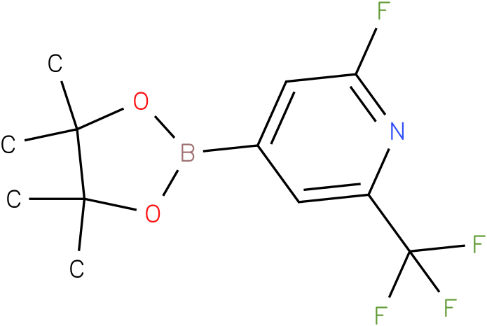 2-fluoro-4-(4,4,5,5-tetramethyl-1,3,2-dioxaborolan-2-yl)-6-(trifluoromethyl)pyridine
