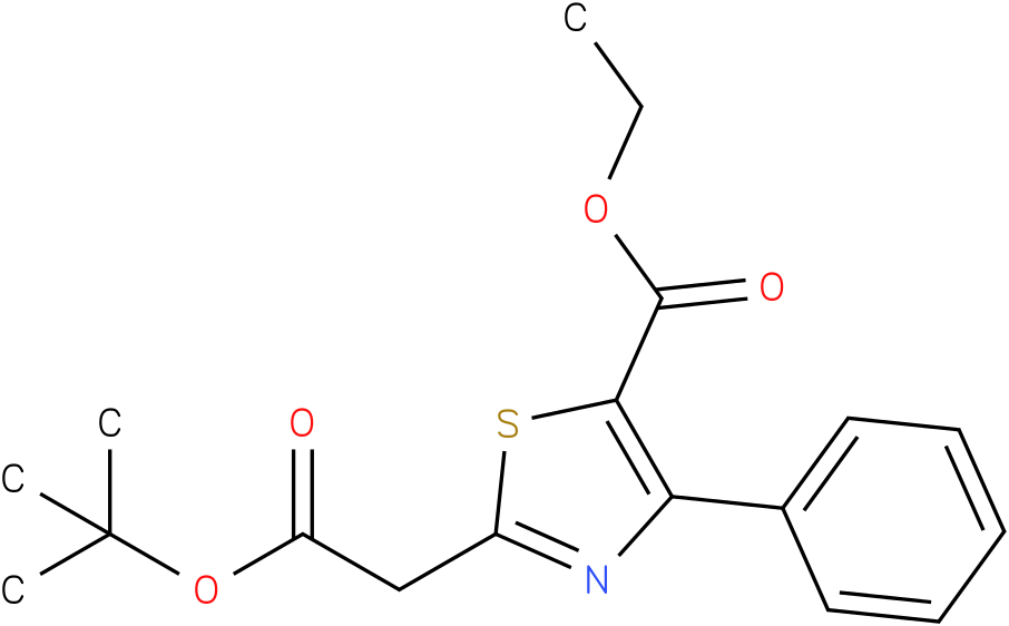 ethyl 2-(2-tert-butoxy-2-oxoethyl)-4-phenylthiazole-5-carboxylate