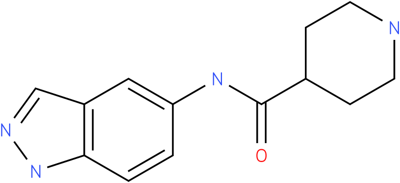 Piperidine-4-carboxylic acid (1H-indazol-5-yl)-amide