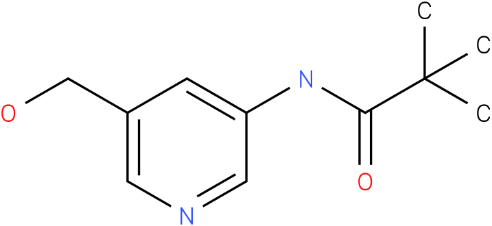 N-(5-(hydroxymethyl)pyridin-3-yl)pivalamide