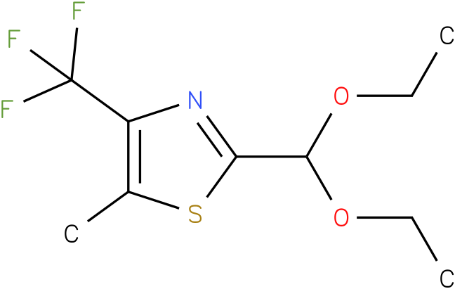 2-(diethoxymethyl)-5-methyl-4-(trifluoromethyl)thiazole