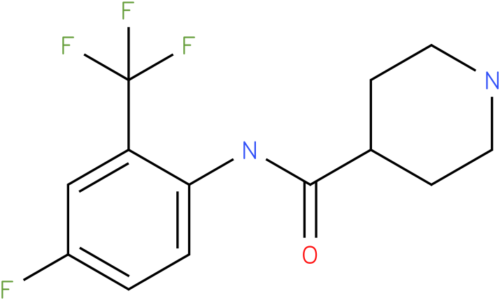 Piperidine-4-carboxylic acid (4-fluoro-2-trifluoromethyl-phenyl)-amide