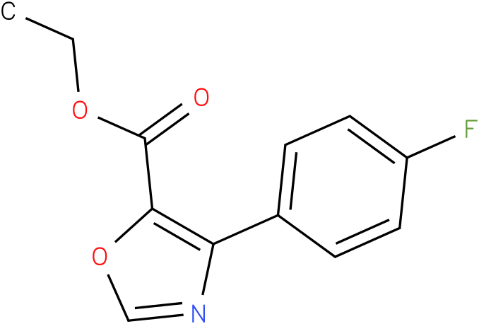ETHYL 4-(4-FLUOROPHENYL)OXAZOLE-5-CARBOXYLATE