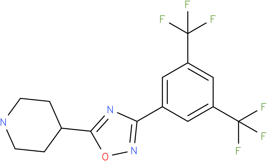 4-[3-(3,5-Bis-trifluoromethyl-phenyl)-[1,2,4]oxadiazol-5-yl]-piperidine