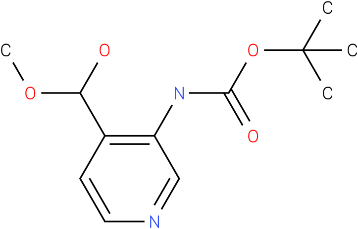 tert-butyl 4-(hydroxy(methoxy)methyl)pyridin-3-ylcarbamate