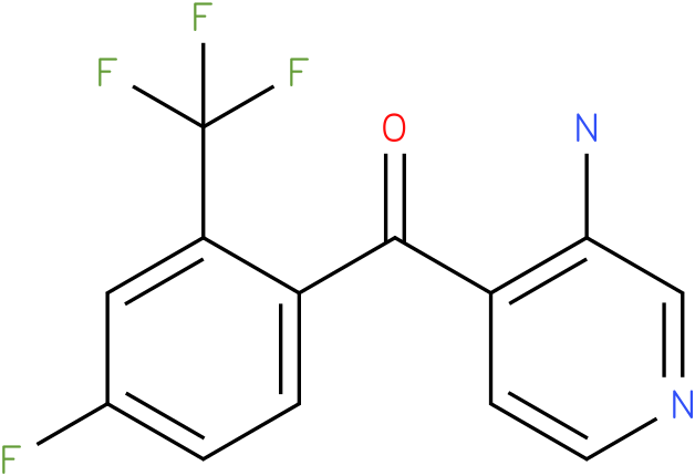 (3-Amino-pyridin-4-yl)-(4-fluoro-2-trifluoromethyl-phenyl)-methanone