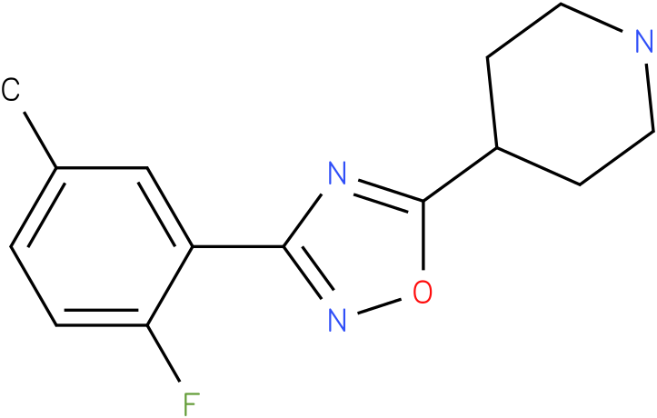 4-[3-(2-Fluoro-5-methyl-phenyl)-[1,2,4]oxadiazol-5-yl]-piperidine