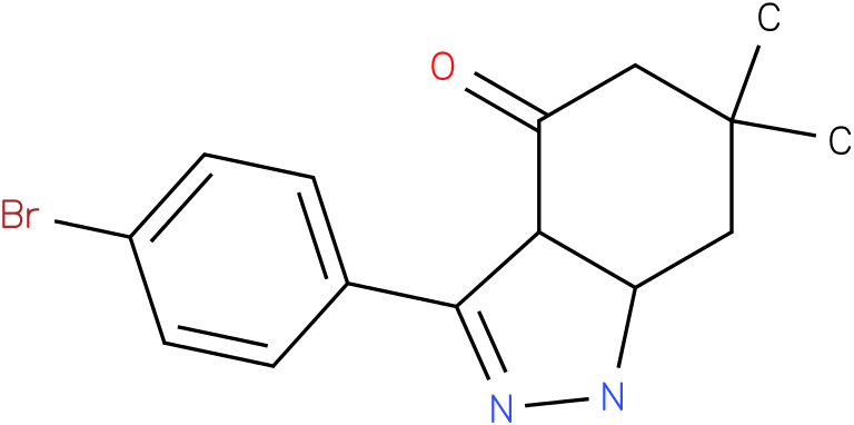 3-(4-Bromo-phenyl)-6,6-dimethyl-1,3a,5,6,7,7a-hexahydro-indazol-4-one
