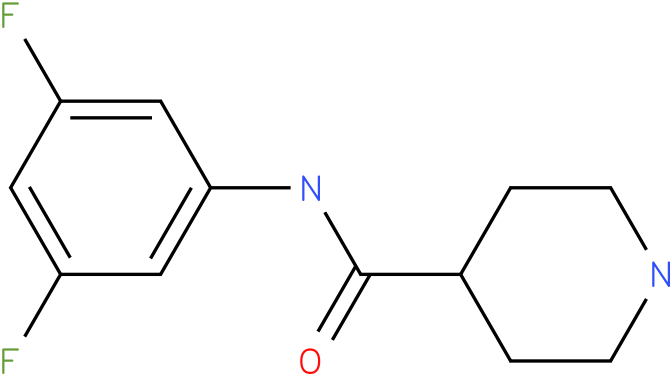 Piperidine-4-carboxylic acid (3,5-difluoro-phenyl)-amide
