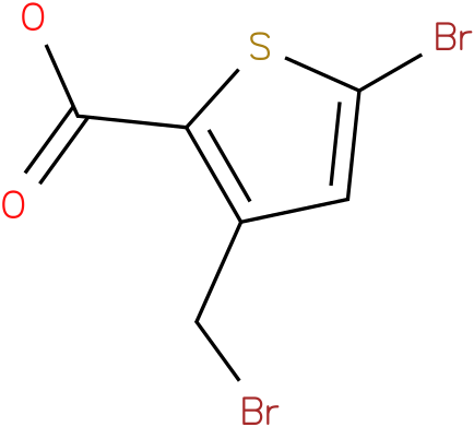 5-bromo-3-(bromomethyl)thiophene-2-carboxylic acid