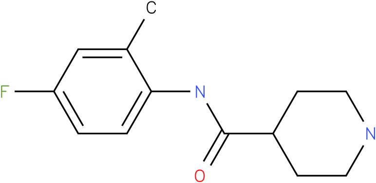 Piperidine-4-carboxylic acid (4-fluoro-2-methyl-phenyl)-amide