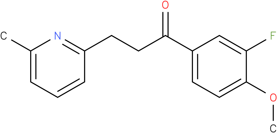 1-(3-Fluoro-4-methoxy-phenyl)-3-(6-methyl-pyridin-2-yl)-propan-1-one