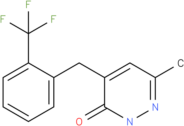 6-Methyl-4-(2-trifluoromethyl-benzyl)-2H-pyridazin-3-one