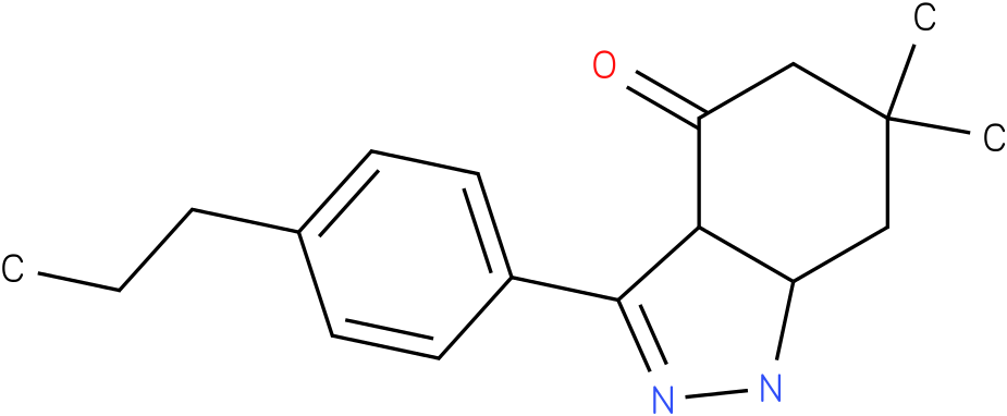 6,6-Dimethyl-3-(4-propyl-phenyl)-1,3a,5,6,7,7a-hexahydro-indazol-4-one