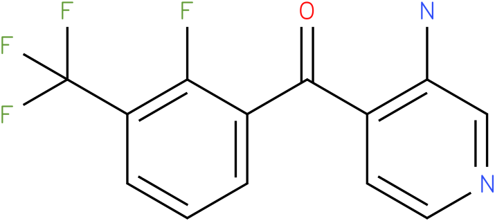 (3-Amino-pyridin-4-yl)-(2-fluoro-3-trifluoromethyl-phenyl)-methanone