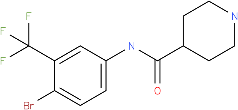 Piperidine-4-carboxylic acid (4-bromo-3-trifluoromethyl-phenyl)-amide