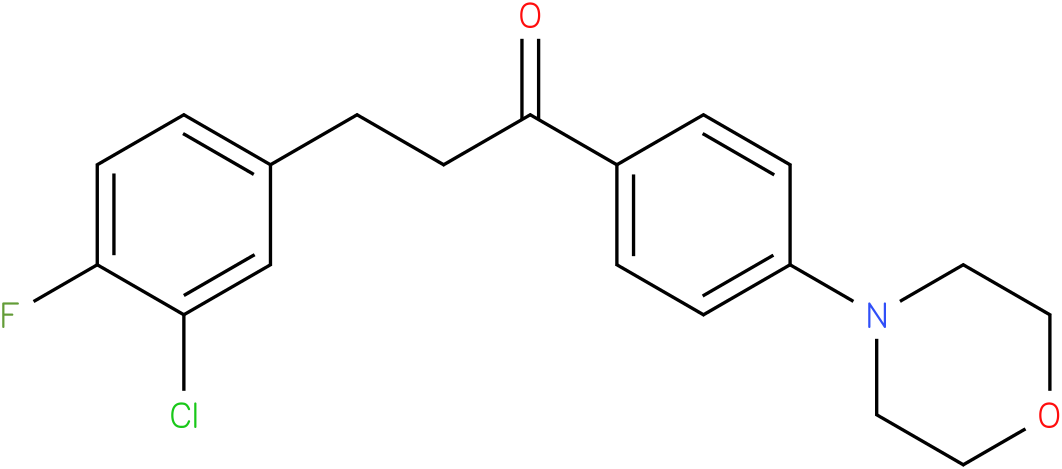 3-(3-Chloro-4-fluoro-phenyl)-1-(4-morpholin-4-yl-phenyl)-propan-1-one