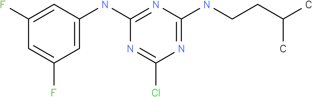 6-Chloro-N-(3,5-difluoro-phenyl)-N'-(3-methyl-butyl)-[1,3,5]triazine-2,4-diamine