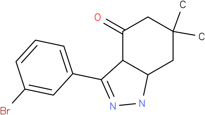 3-(3-Bromo-phenyl)-6,6-dimethyl-1,3a,5,6,7,7a-hexahydro-indazol-4-one