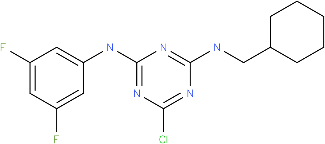 6-Chloro-N-cyclohexylmethyl-N'-(3,5-difluoro-phenyl)-[1,3,5]triazine-2,4-diamine