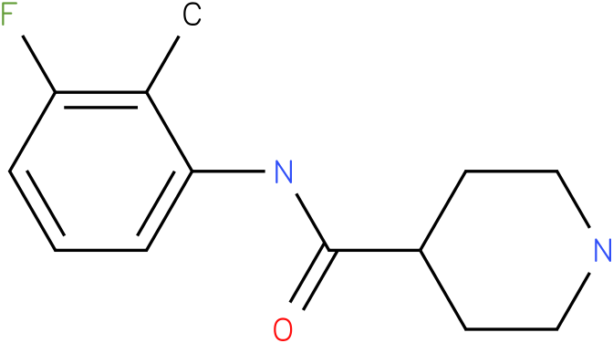 Piperidine-4-carboxylic acid (3-fluoro-2-methyl-phenyl)-amide