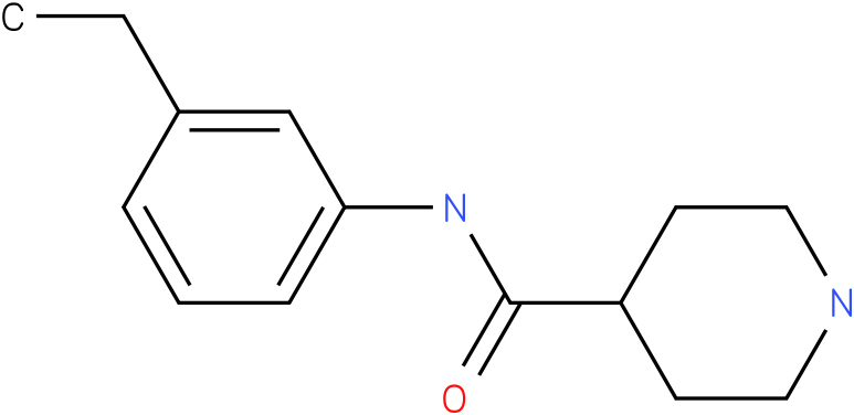 Piperidine-4-carboxylic acid (3-ethyl-phenyl)-amide