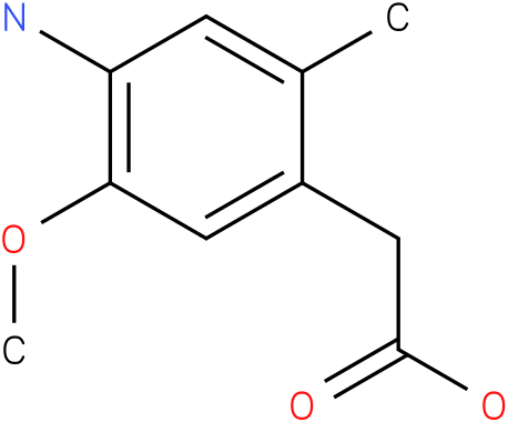 (4-Amino-5-methoxy-2-methyl-phenyl)-acetic acid