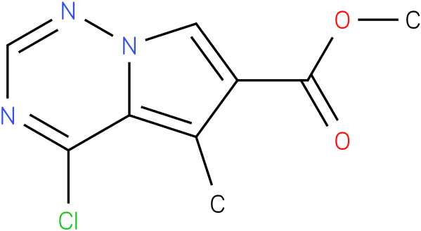 methyl 4-chloro-5- methylpyrrolo[1,2-f][1,2,4] triazine-6-carboxylate