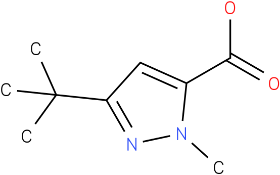 3-tert-butyl-1-methyl-1H-pyrazole-5-carboxylic acid
